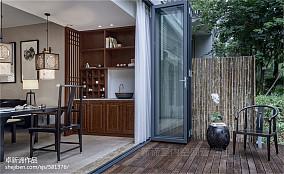 南山宅中式现代三居121-150m²阳台
