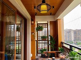 禅意风中式现代三居60m²以下阳台