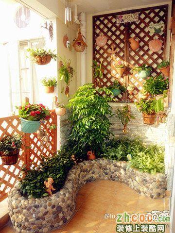 阳台实景设计效果图田园风格三室两厅两卫展示