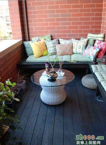 很美很实用的阳台设计混搭风格一