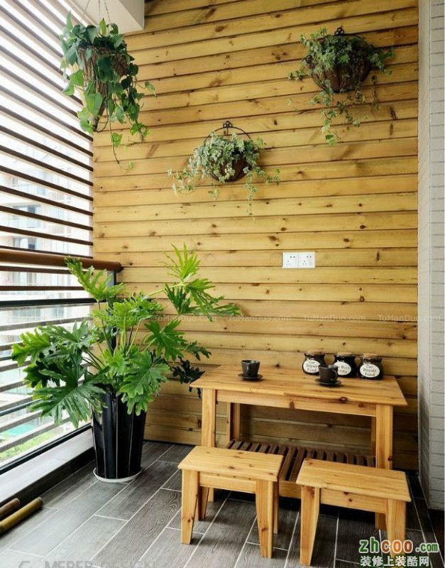很美很实用的阳台设计混搭风格一室一厅一卫展示