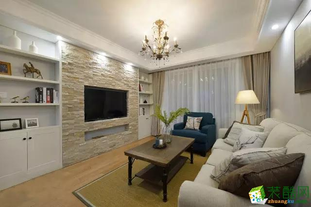 80平简约装修阳台完美打造图片现代风格两室一厅展示