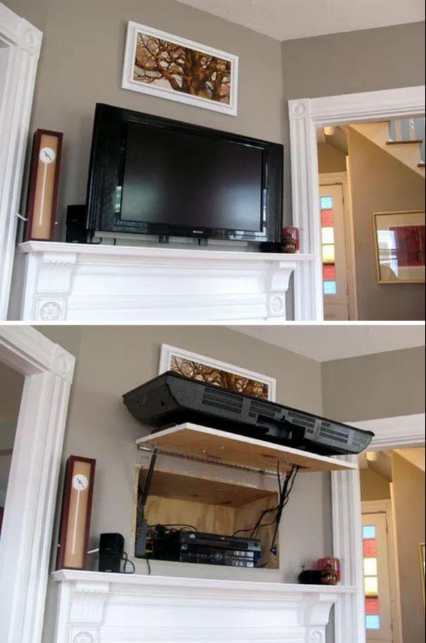 电视背后藏暗格